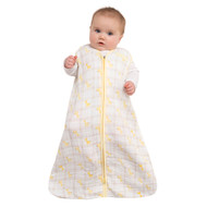 HALO® SleepSack® wearable blanket 100% Cotton Muslin  | Giraffe Yellow