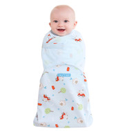 HALO® SwaddleSure® adjustable swaddling pouch  100% Cotton  |  Blue Driving Dog