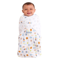 HALO® SwaddleSure® adjustable swaddling pouch  100% Cotton  |  Blue Sport Champ