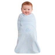 HALO® SwaddleSure® Adjustable Swaddling Pouch  100% Cotton  |  Blue
