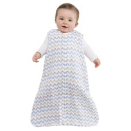 HALO® SleepSack® wearable blanket 100% Cotton Muslin  |  Chevron Taupe