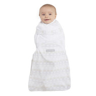 HALO® SwaddleSure® adjustable swaddling pouch  100% Cotton  | Stripe Elephant