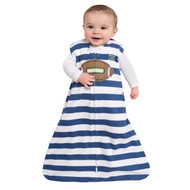 HALO® SleepSack® wearable blanket 100% Cotton  |  Football Navy Stripe