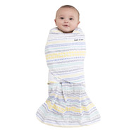 HALO® SleepSack® swaddle 100% Cotton  |  Stripes/Circles Yellow