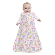 HALO® SleepSack® wearable blanket Micro-Fleece  | Pink Jungle Tree Print