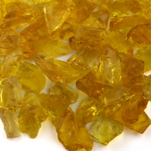 Yellow Fireplace Glass
