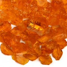 Orange Fireplace Pit Glass