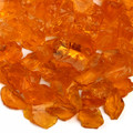 Orange Fireplace Pit Glass