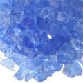 Light Blue Fireplace Pit Glass