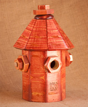 Fire Hydrant Bluebird house with built-in predator guard