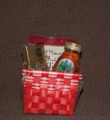 Tea and Honey Gift Basket with European Chocolate-Raspberry Truffles