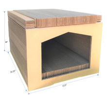 "Andevan Durable Corrugated Cardboard Cat  Scratching  House  16.25"" x 10"" x 13.5"""