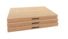 "3 pcs  Andevan Durable Corrugated Cardboard Cat Kitten Scratching  Board  16"" x 10.5"" x 1.18"""