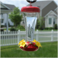 Perky Pet Aster Top-Fill, Push-Pull Hummingbird Feeder 12oz