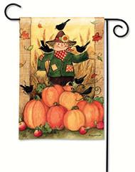 BreezeArt Give Thanks Scarecrow Garden Flag 31212