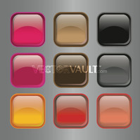 image free vector freebie gel icon buttons