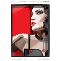ikea frame art buy vector print poster printed digital art red