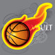 Buy Vector Flaming Basketball team logo Image free vectors