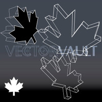 Buy Vector Wireframe Maple Leaf free vectors