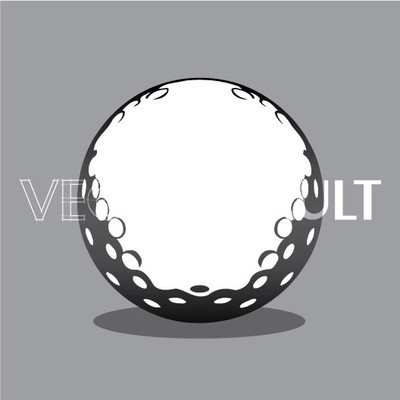 Buy Vector golf ball Image free vectors