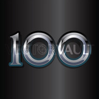 Buy Vector 100 one hundred metal centennial logo graphic Image search find buy free vectors - Vectorvault