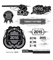 Logo text lockup for the year 2015 twenty fifteen
