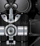 vector illustration of robotic components stainless steel texture