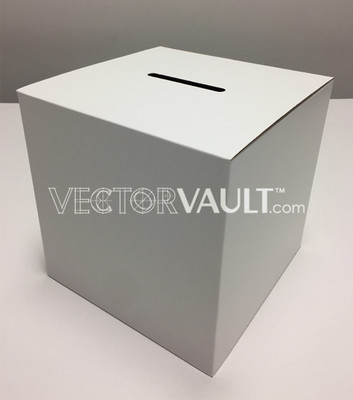 ballot box die line vector ArtiosCAD file template rendering templates
