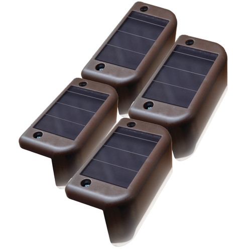 Solar-Powered LED Deck Lights (Pack of 4)