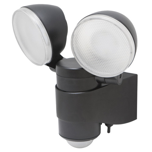 Battery-Powered Motion-Activated Dual Head LED Security Spotlight