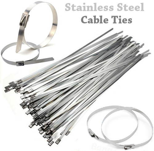 Stainless Steel Cable Ties - Set of 2