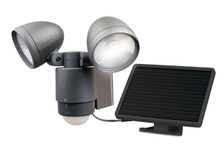 Dual Head Solar LED Spotlight - dark bronze
