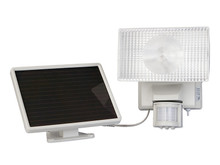 Solar Powered 80 LED Security Floodlight - Off-White REFURBISHED