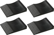 Park Right® Flat Free Tire Ramps - Set of 4 in Black