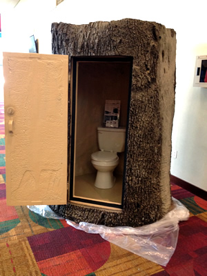Yes, it's a porta-potty!