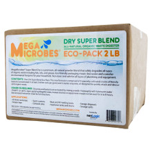 MegaMicrobes Dry Super Blend in NEW 2lb packaging.