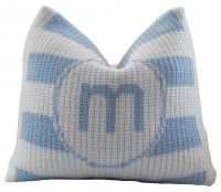 Baby Monogrammed Pillow | Modern Stripe Baby Pillow