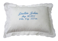 Embroidered Baby Boy Pillow | Personalized Custom Pillow