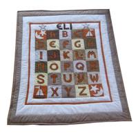 Custom ABC Quilt | Chocolate Brown
