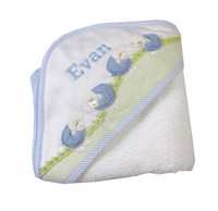 3 Marthas Personalized Hooded Baby Towel - Blue Lamb