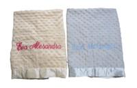 Personalized Twin Gifts - Two Minky Dottie Blankets