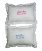 Embroidered Baby Pillows   Twin Gifts