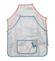 Kid's Apron | White with Gingham Trim