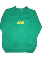 Custom Hand Knitted Cotton Baby Sweater - Solid