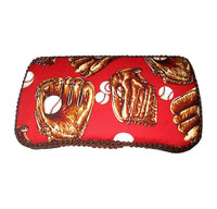 Personalized Travel Baby Wipe Case - Baseball Gloves