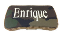 Personalized Travel Baby Wipe Case - Camo with white embroidery