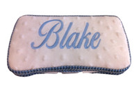 Personalized Travel Baby Wipe Case - Minky Ivory