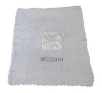 Barefoot Dreams Personalized Baby Blanket - Blue Bamboo Chic