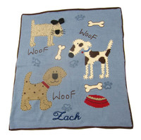 Baby Personalized Blanket | Woof Woof