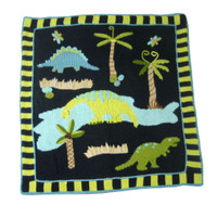 Art Walk Dinosaur Blanket | Personalized Baby Blanket